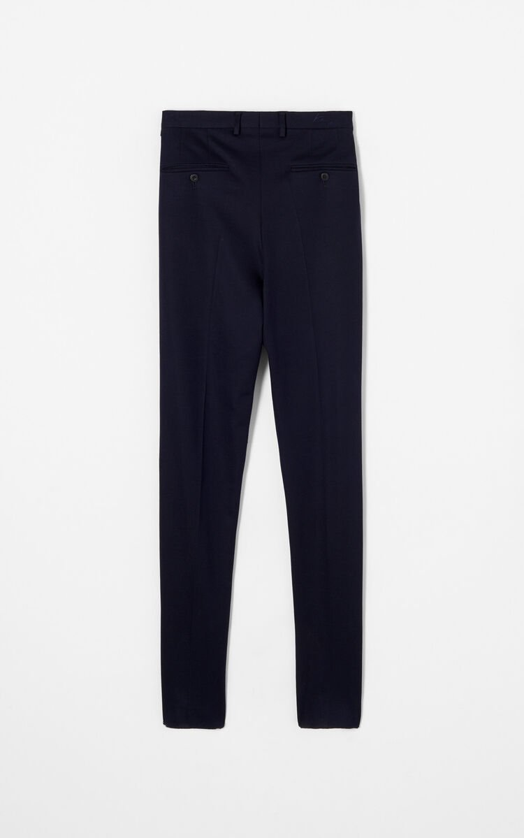 NAVY BLUE Slim-fit trousers for men KENZO