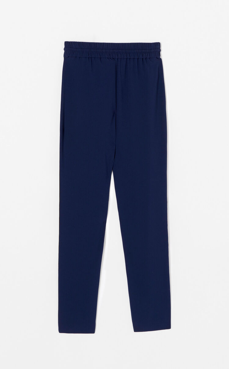 NAVY BLUE Crepe colourblock trousers for women KENZO