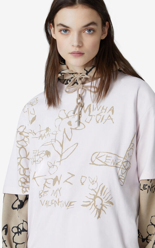 FADED PINK Oversize T-shirt for women KENZO