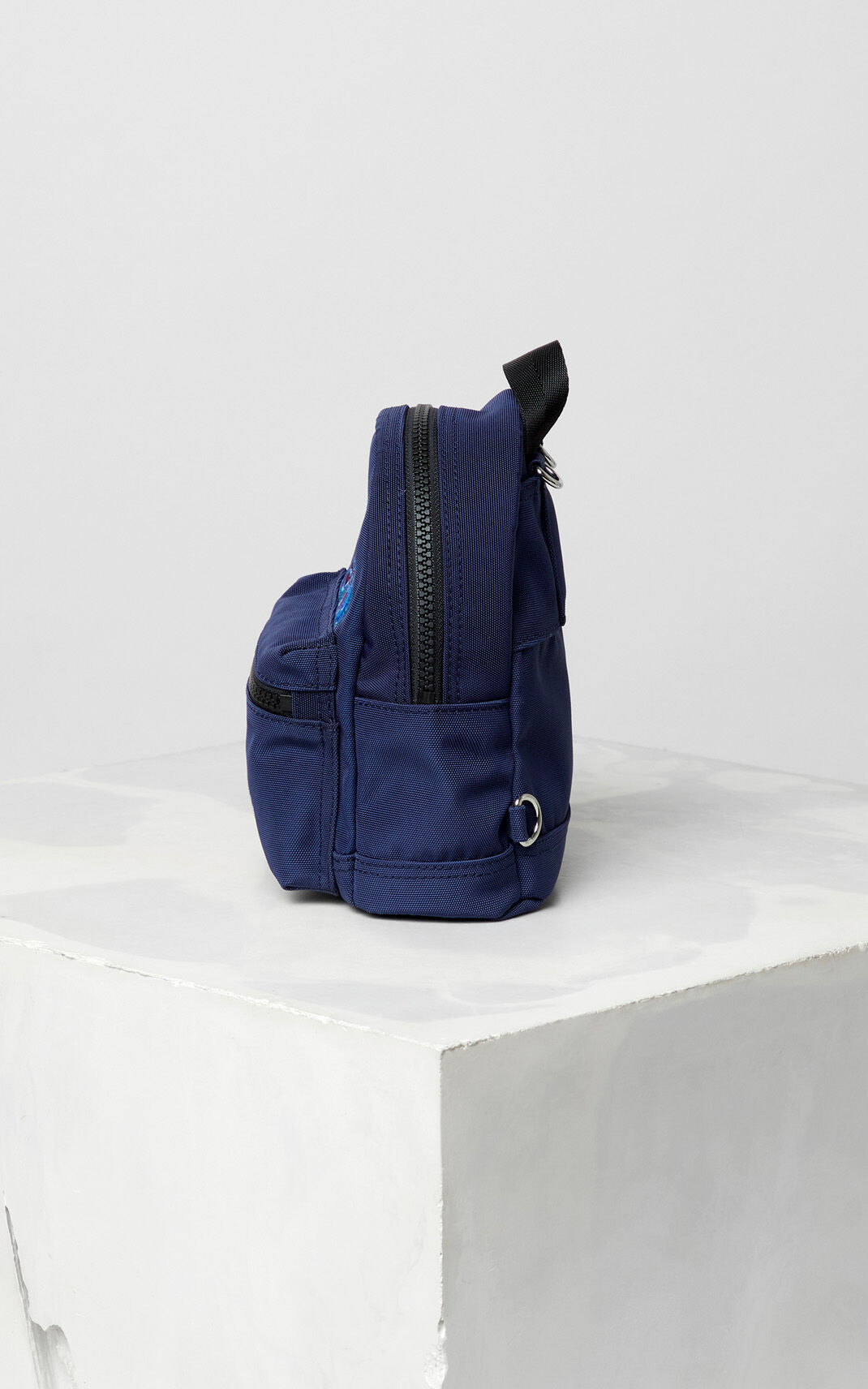 NAVY BLUE Mini Tiger Canvas backpack for women KENZO
