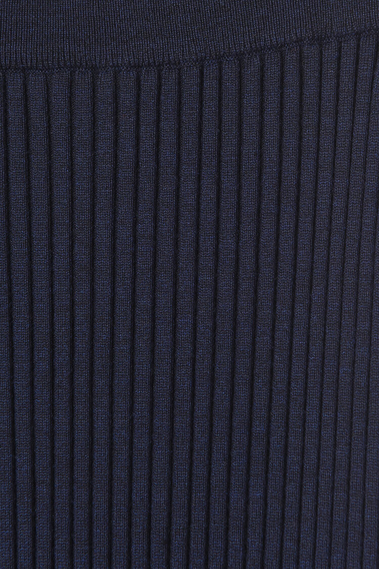 NAVY BLUE Rib-knit midi skirt  for women KENZO