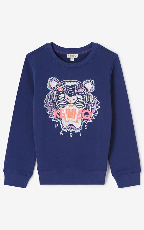 PURPLE Tiger Sweatshirt for women KENZO