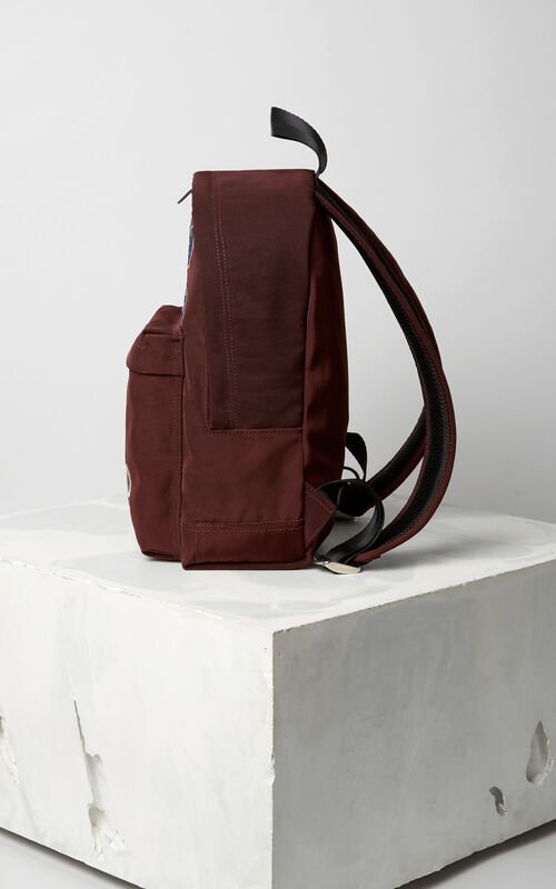 BORDEAUX Medium Tiger Canvas Backpack for unisex KENZO