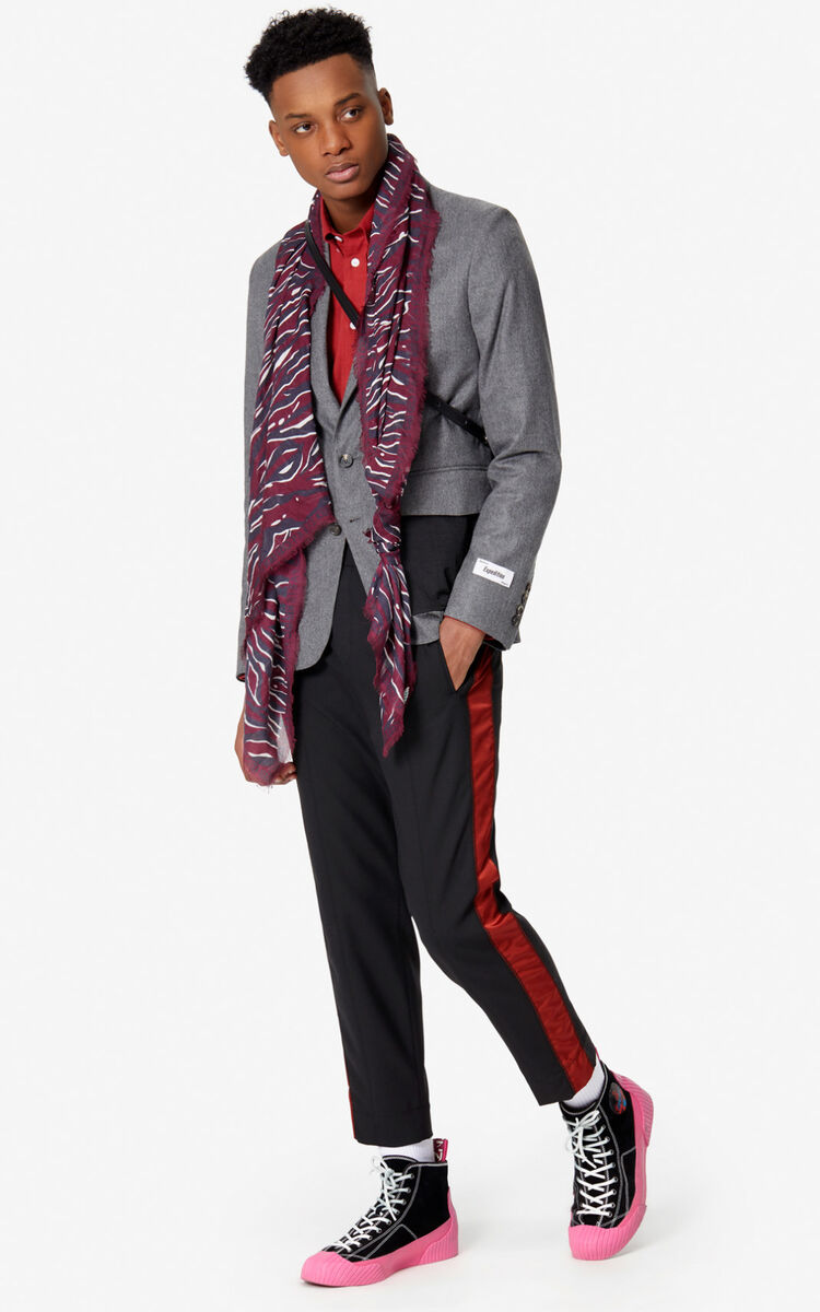 BORDEAUX 'Tiger Stripes' scarf for unisex KENZO