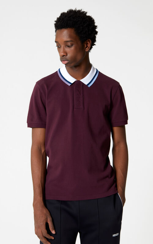 BORDEAUX Slim fit polo shirt for men KENZO
