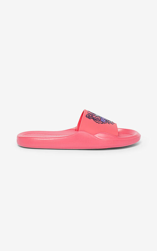 CORAL Tiger pool sliders for unisex KENZO