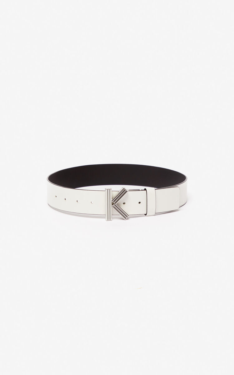 WHITE Wide K-Bag belt for global.none KENZO
