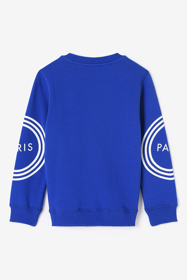 ROYAL BLUE KENZO logo Sweatshirt for men