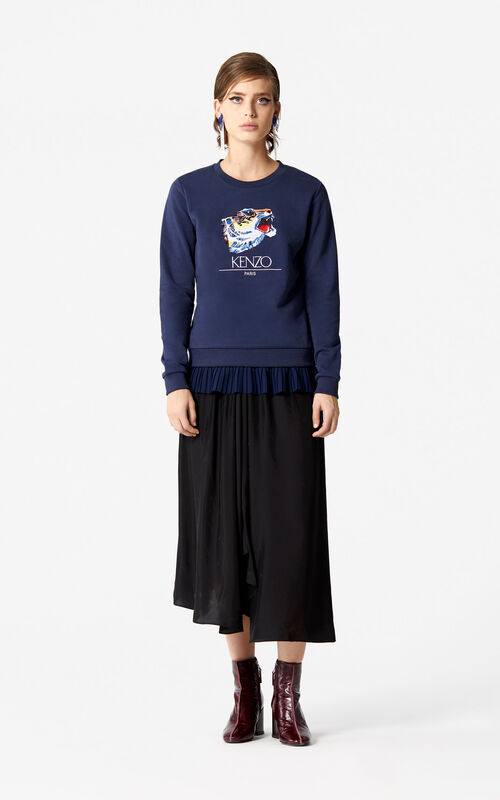 INK 'Tiger Head' Sweatshirt 'Go Tigers Capsule' for women KENZO