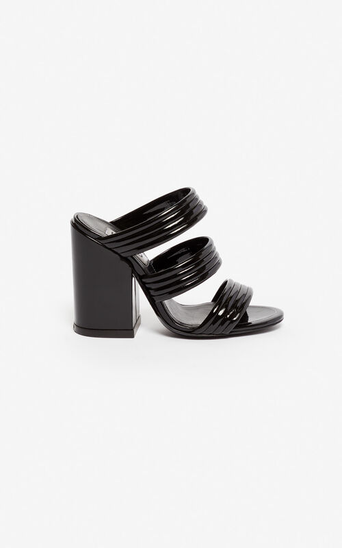 BLACK Ana high-heeled mules for unisex KENZO