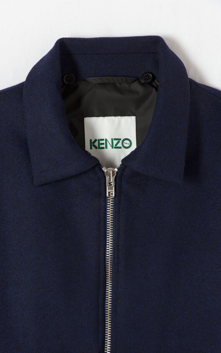 NAVY BLUE Aviator jacket for men KENZO