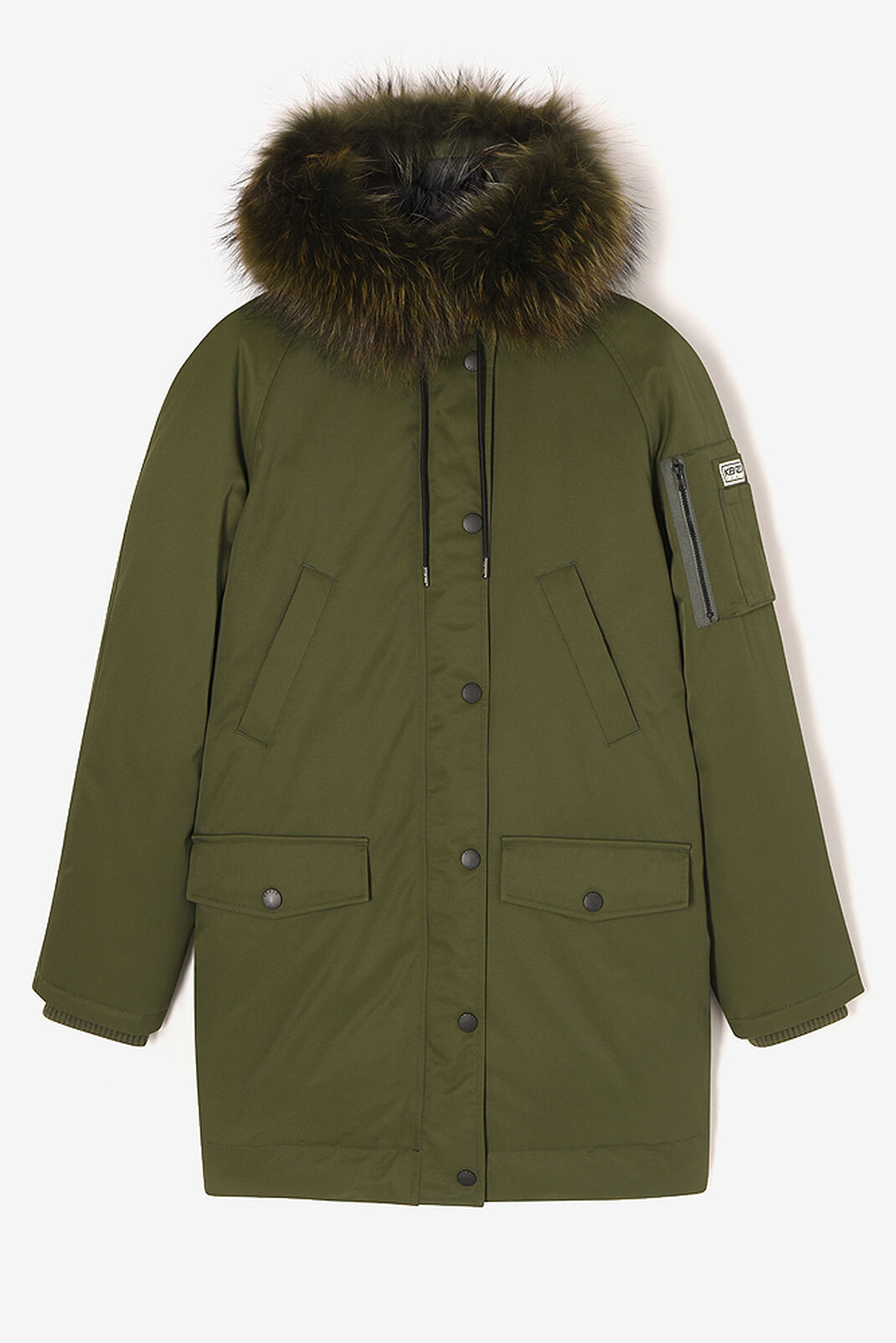 DARK KHAKI Puffa' Parka for women KENZO