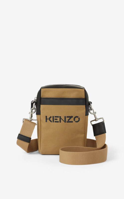 BEIGE Kanvas shoulder bag for unisex KENZO