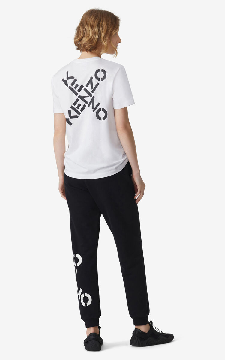 WHITE KENZO Sport 'Triple X' loose T-shirt for men