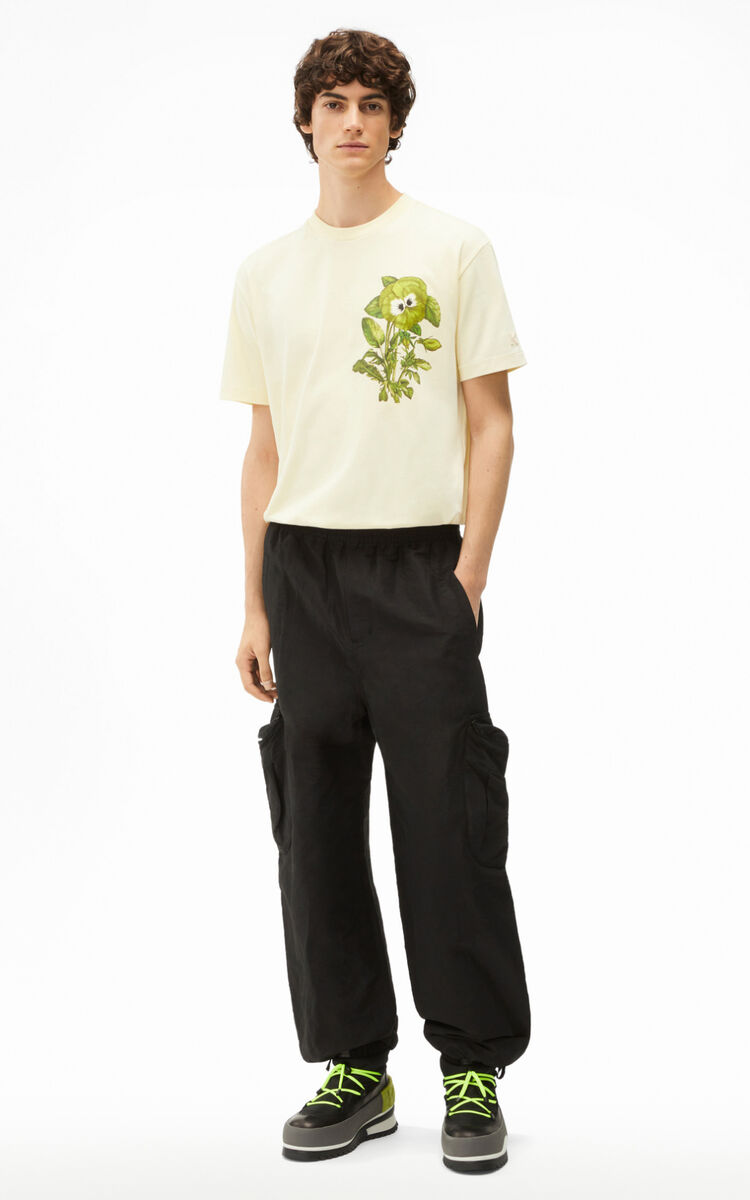 BLACK Cargo trousers with zipped pockets for women KENZO