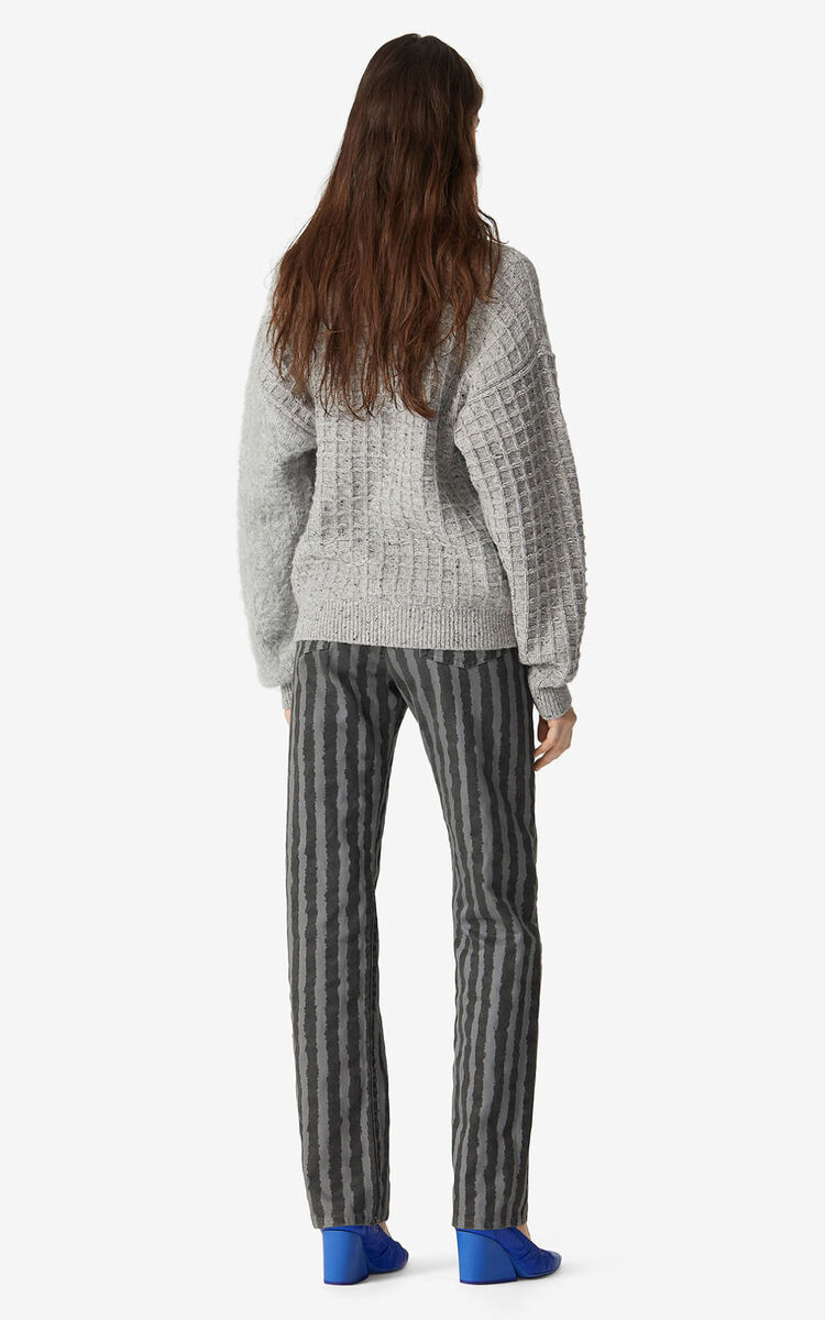 ANTHRACITE Striped jeans for women KENZO