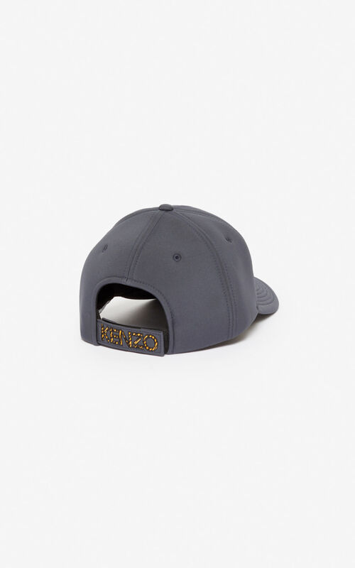 ANTHRACITE Tiger neoprene cap for unisex KENZO