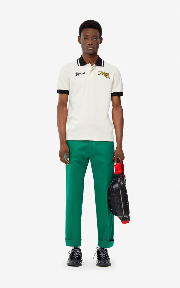 ECRU Fitted 'Jumping Tiger' polo for women KENZO