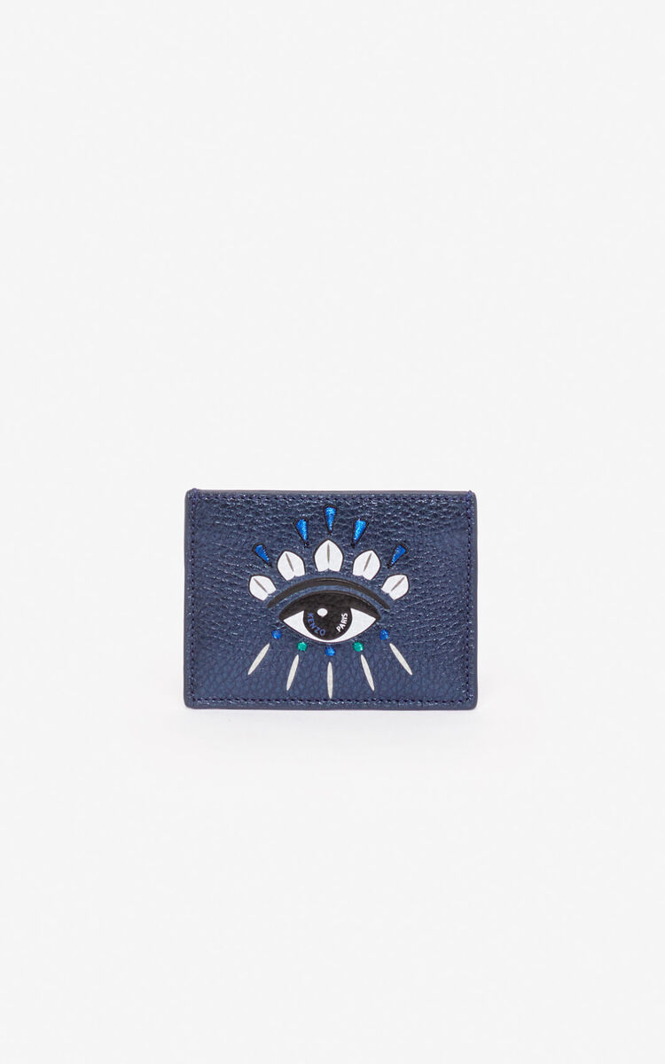 NAVY BLUE Kontact Eye cardholder for men KENZO