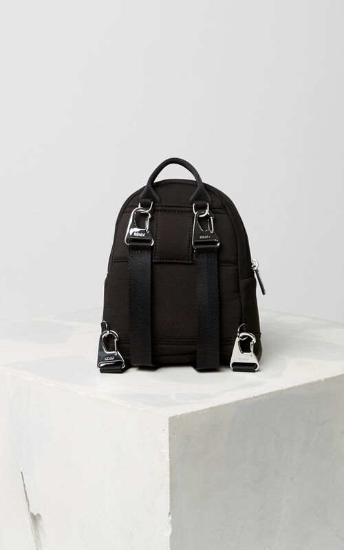 BLACK 'Chinese NY Capsule Collection' Mini Tiger Neoprene Backpack for men KENZO