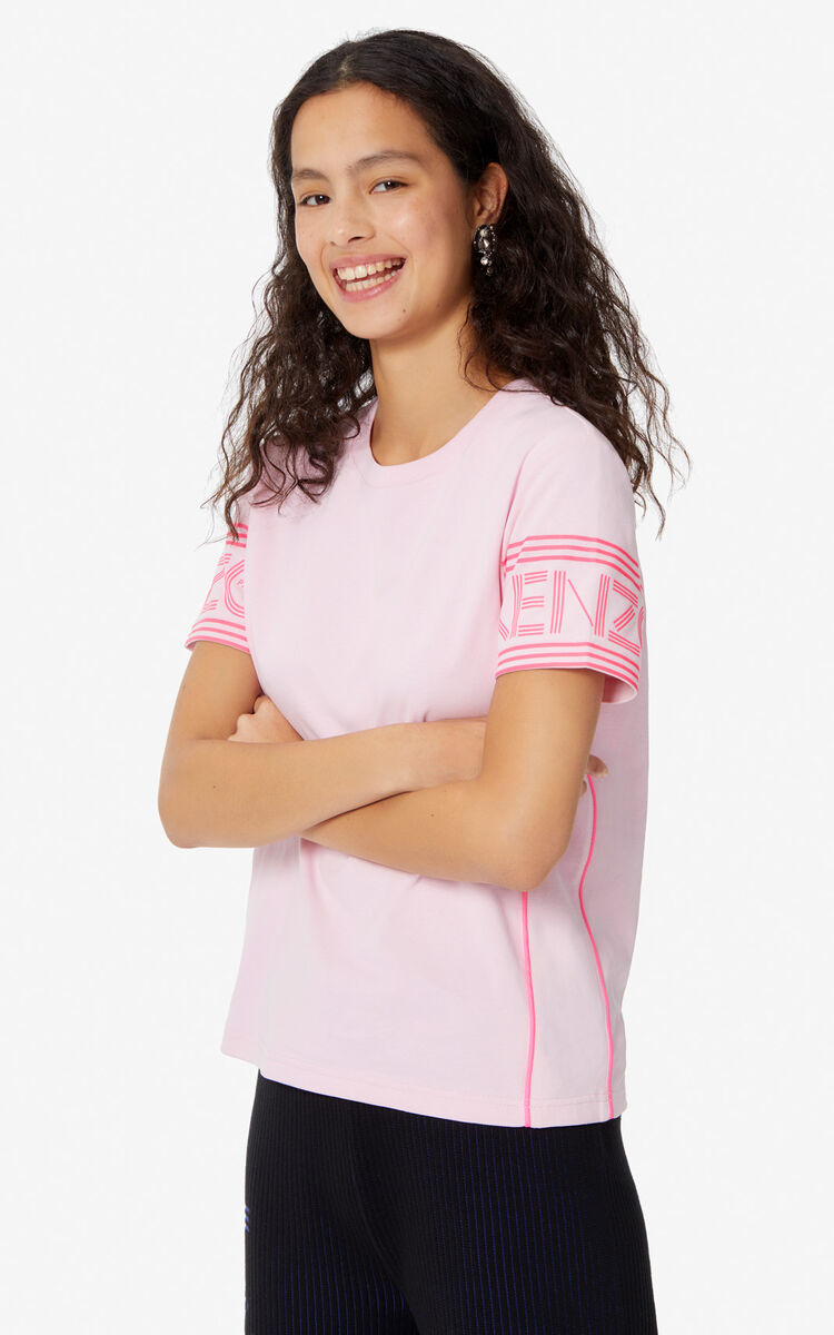 PASTEL PINK KENZO Logo T-shirt for women