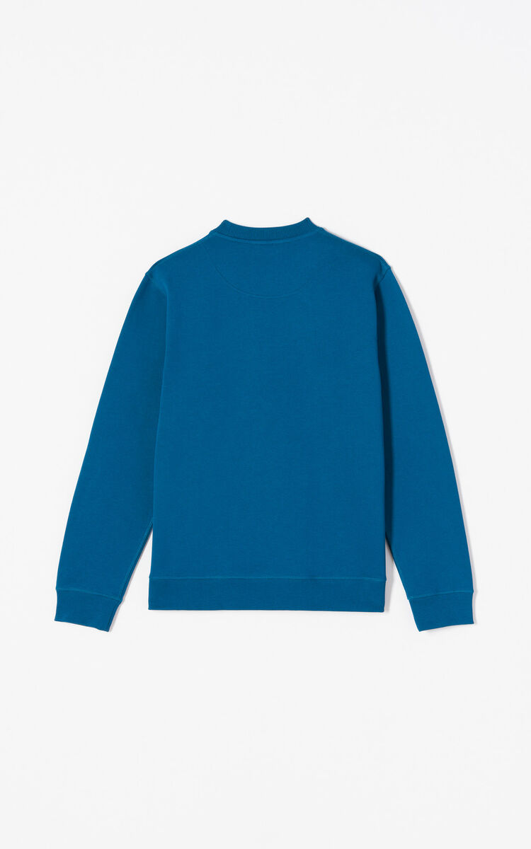 DUCK BLUE Tiger sweatshirt for men KENZO