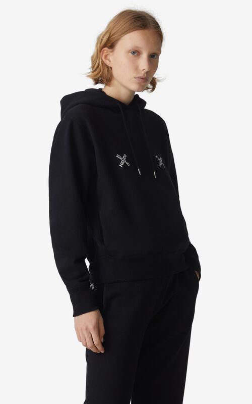 BLACK KENZO Sport 'Triple X' hoodie for women