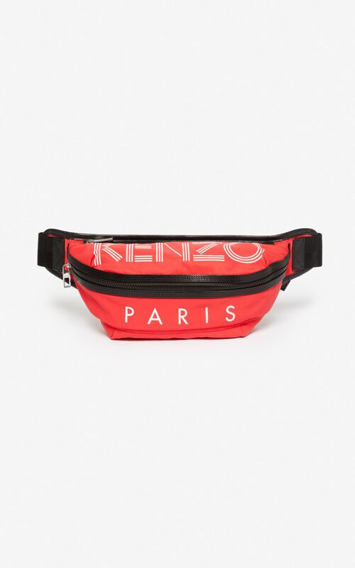 MEDIUM RED KENZO Logo bumbag for unisex