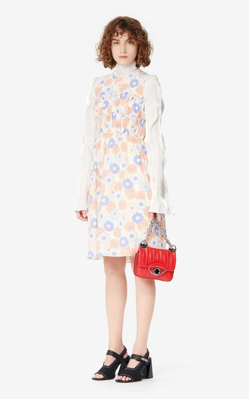 OFF WHITE 'Ume Flower' silk dress for women KENZO