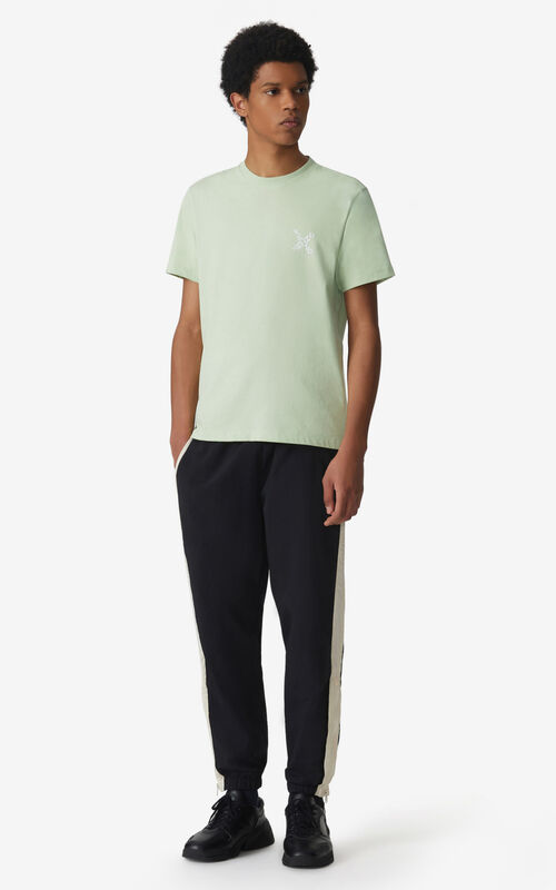 ALMOND GREEN KENZO Sport 'Little X' t-shirt for men