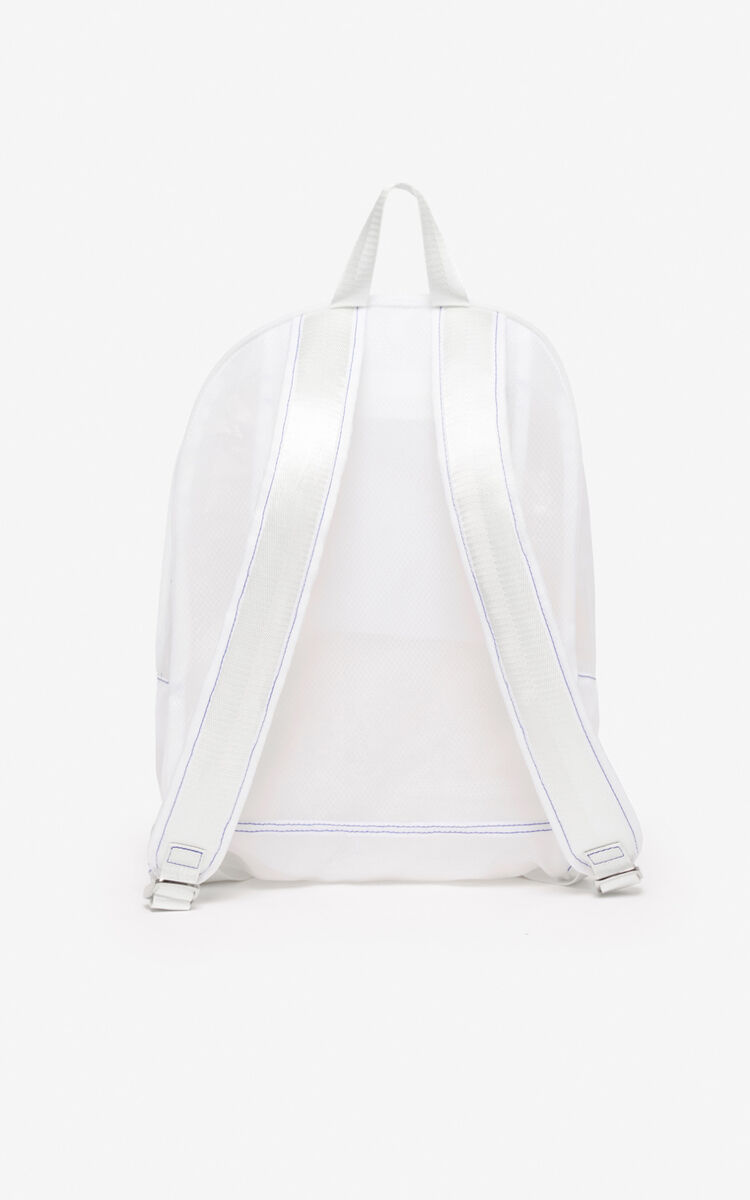 WHITE Large Tiger backpack for unisex KENZO