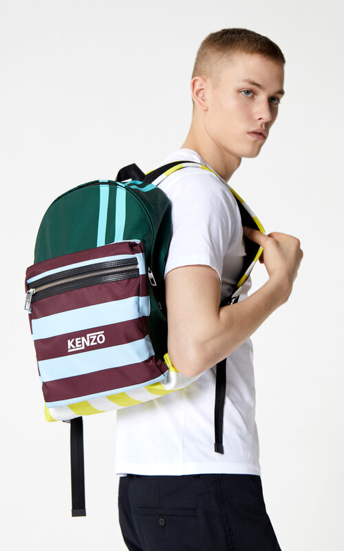 PINE Striped 'Hyper KENZO' backpack for men