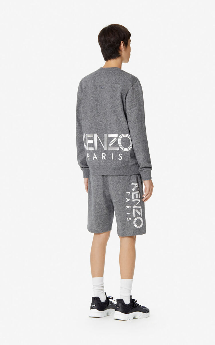 ANTHRACITE KENZO Logo Shorts for men