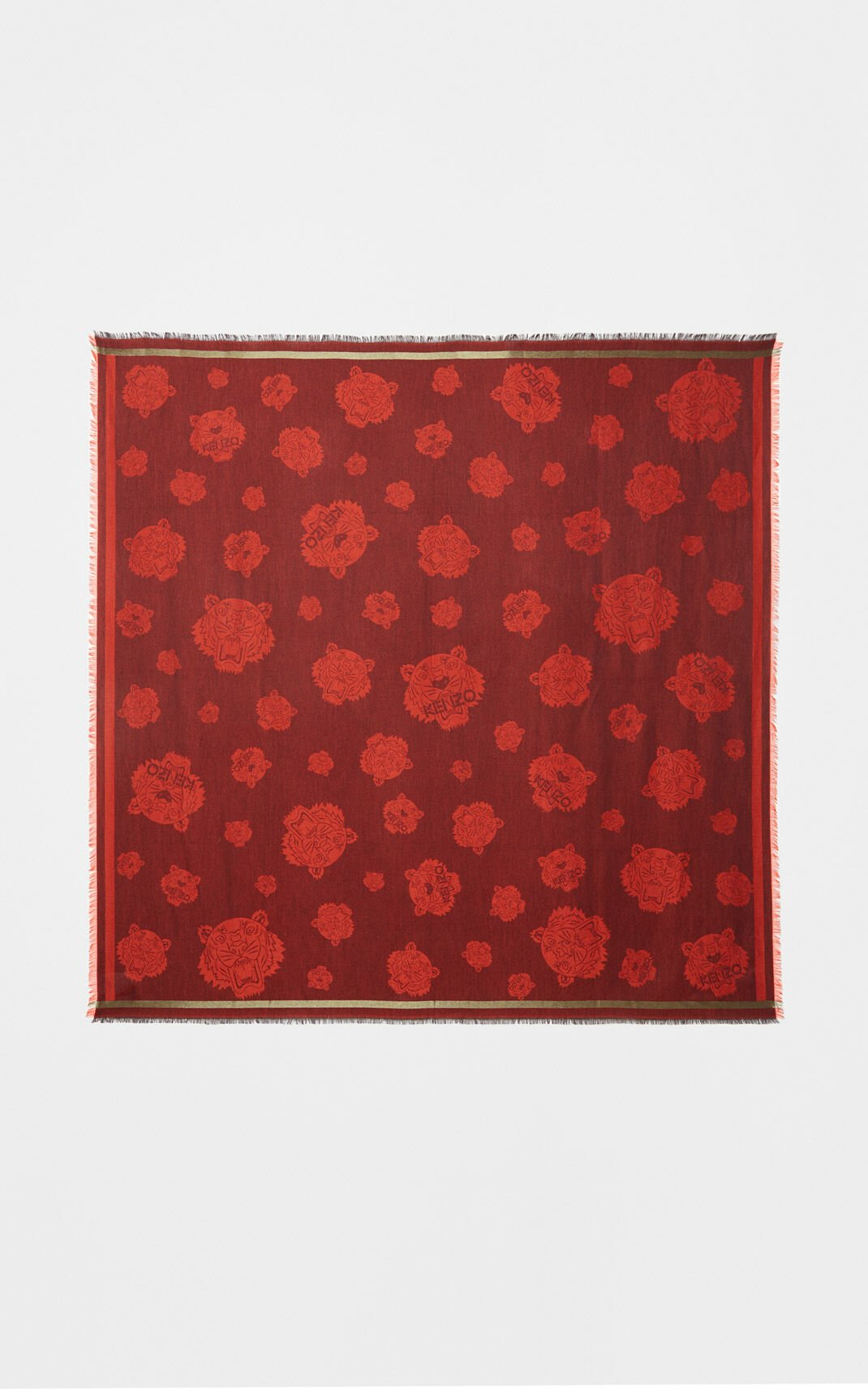 MEDIUM RED Tiger Scarf for women KENZO