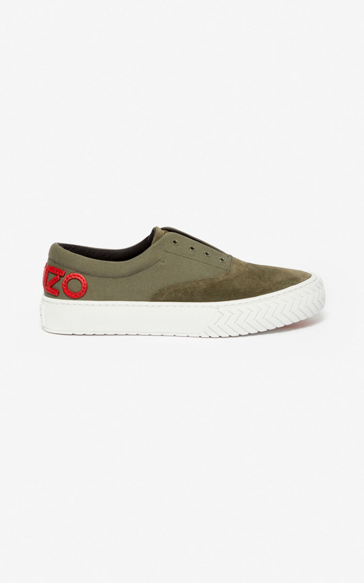 DARK KHAKI K-Skate sneakers for unisex KENZO