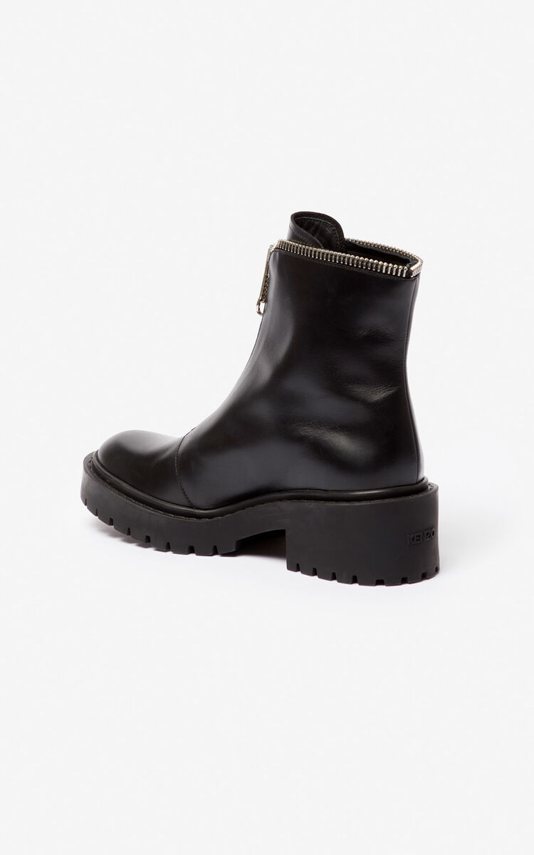 BLACK Pike zipped boots for women KENZO