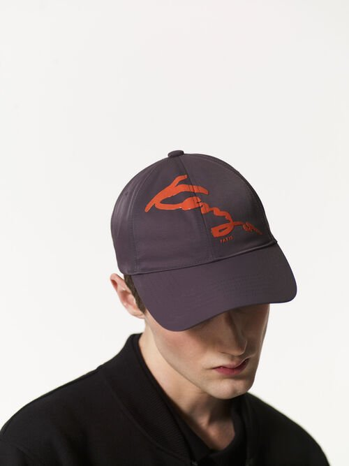 ANTHRACITE KENZO Signature Baseball Cap for men