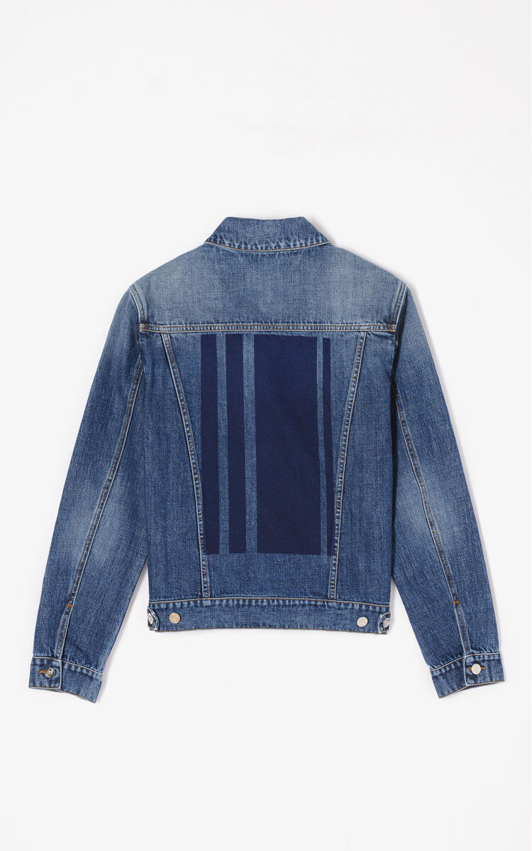 NAVY BLUE Denim Trucker Jacket for women KENZO