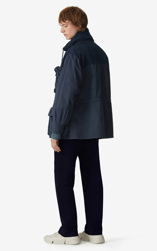 MIDNIGHT BLUE Utility parka for men KENZO
