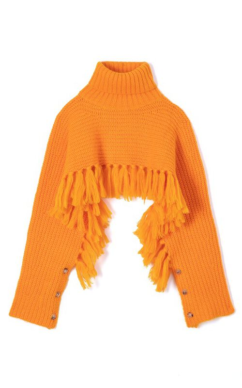 MARIGOLD Short fringed jumper for women KENZO