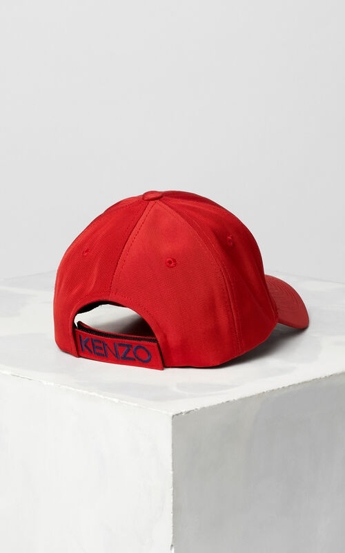 MEDIUM RED Tiger Canvas Cap for men KENZO
