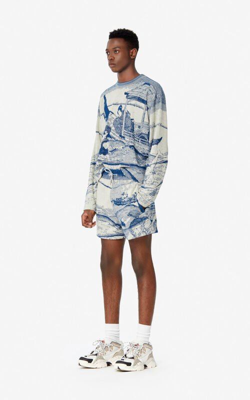 DUCK BLUE 'Ama Diver' sweatshirt  for men KENZO