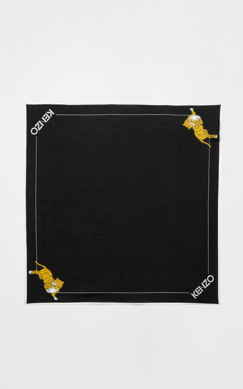 BLACK Jumping Tiger' bandana for unisex KENZO