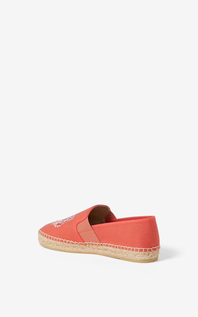 RED ORANGE Tiger elasticated canvas espadrilles for unisex KENZO