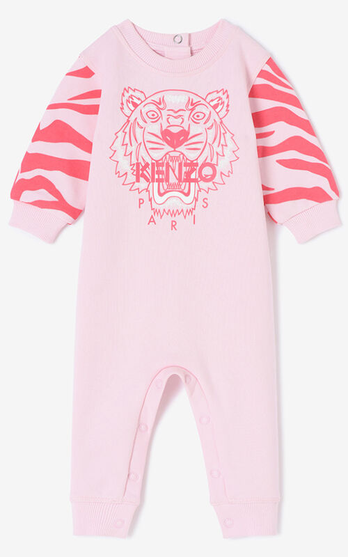 FADED PINK Tiger Stripes Babygrow for men KENZO