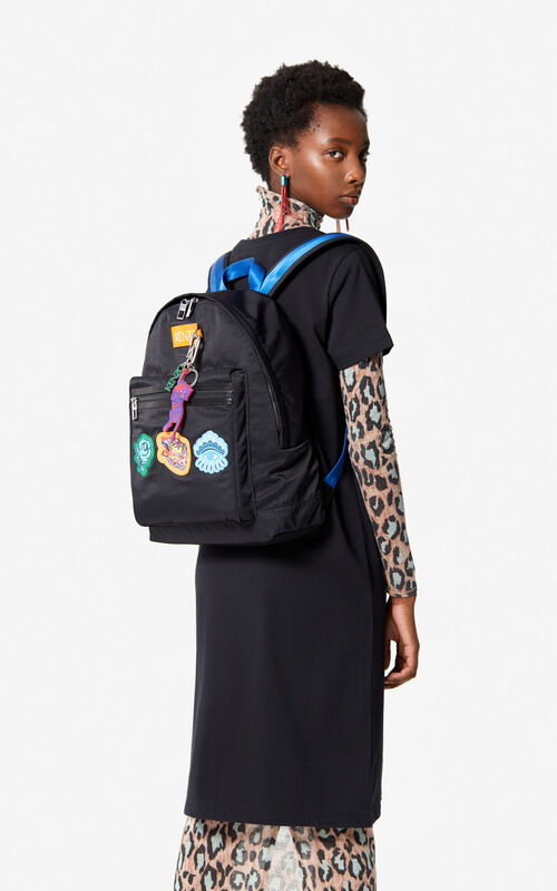 BLACK Multi-Icon Backpack 'Go Tigers Capsule' for women KENZO