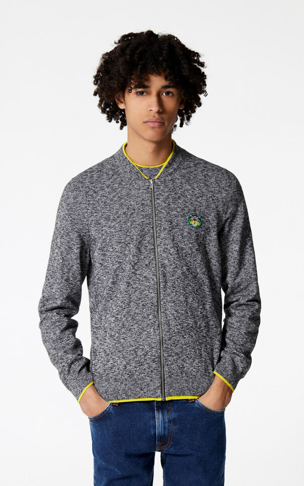 ANTHRACITE Zipped Tiger jumper for men KENZO
