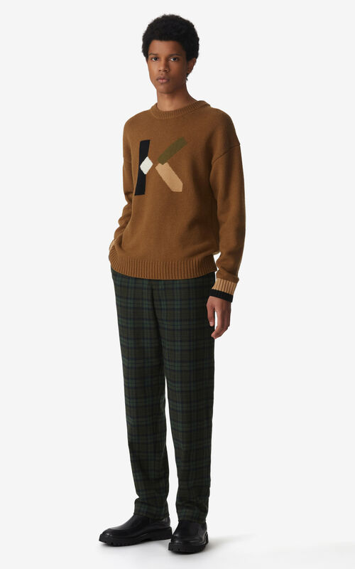DARK CAMEL K Logo jumper for men KENZO