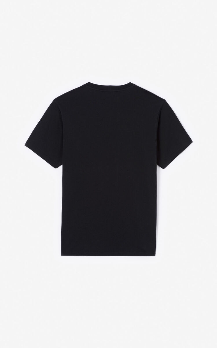 BLACK Gradient Eye T-shirt for men KENZO