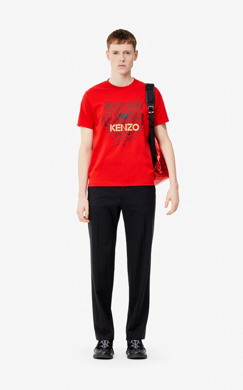 886c7f65d26 ... VERMILLION Tiger t-shirt  Exclusive Capsule  for men KENZO